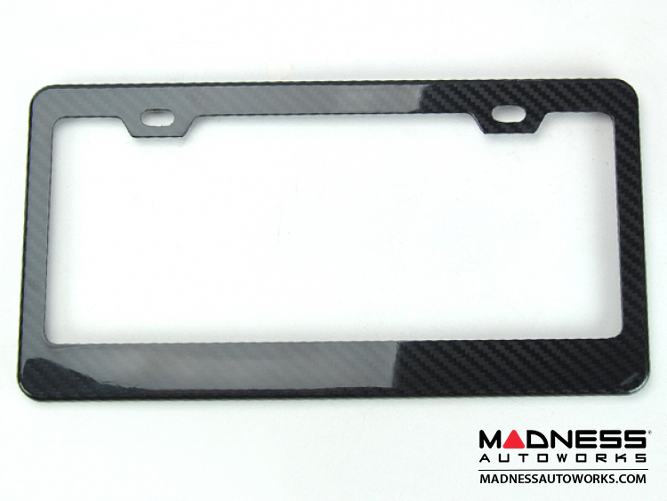 smart fortwo License Plate Frame - Carbon Fiber