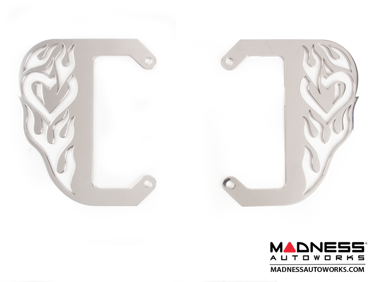 smart fortwo Custom License Plate Frame - Hot Love - Polished