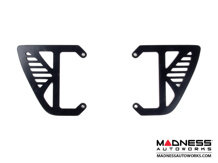 smart fortwo Custom License Plate Frame - Line - Black