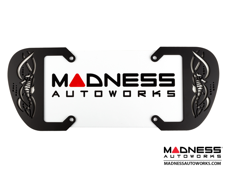 smart fortwo Custom License Plate Frame - Sea Horse - Matte Black