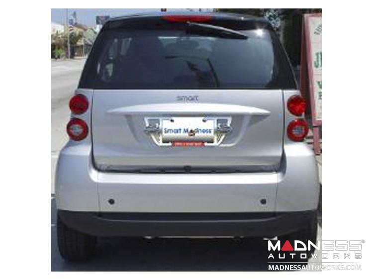 smart fortwo Custom License Plate Frame - Polished Finish - Hot Love Design