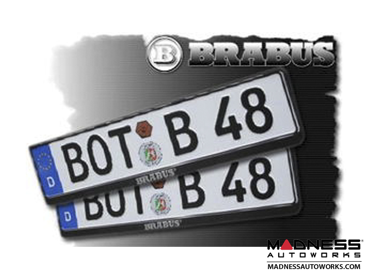 License Plate Frame - European - BRABUS
