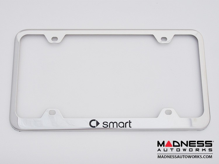 smart fortwo License Plate Frame (Wideface) - Stainless Steel