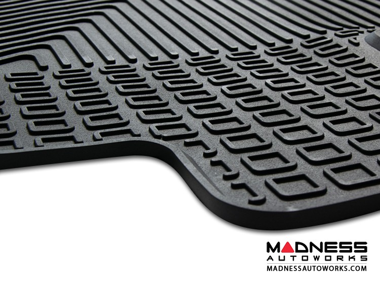 smart fortwo Floor Mats - All Weather Rubber - 453 model - Deluxe Version