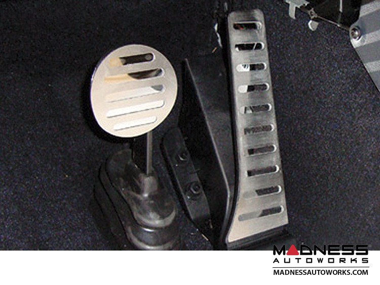 smart fortwo Pedal Set Kit - Polished Stainless Steel