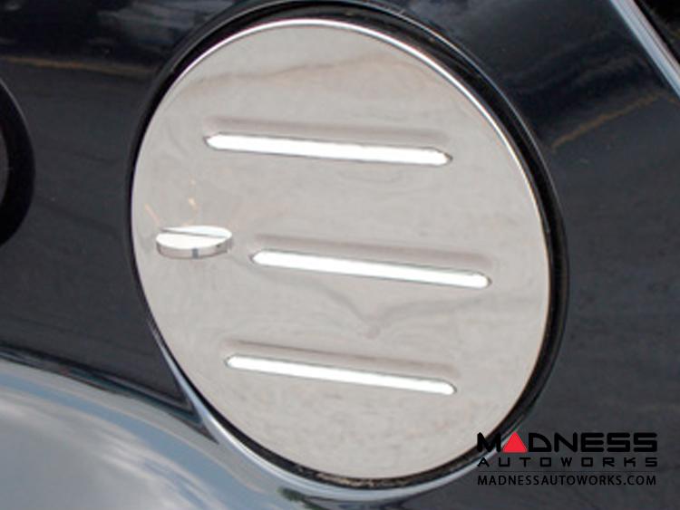 smart fortwo Fuel Door - 451 model - Billet Aluminum