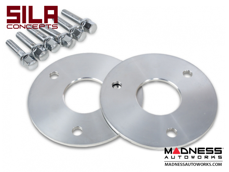 smart fortwo Wheel Spacers - 450/ 451 - 5mm - SILA Concepts - w/ bolts