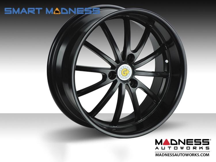 """smart fortwo Custom Wheels - 451 model - Genius 15"""" - Darwin - Matte Black (4)"""