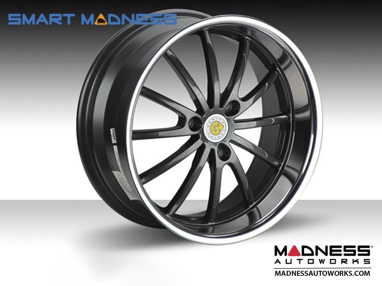 "smart fortwo Custom Wheels - 451 model - Genius 15"" - Darwin - Gunmetal w/mirror lip (4)"