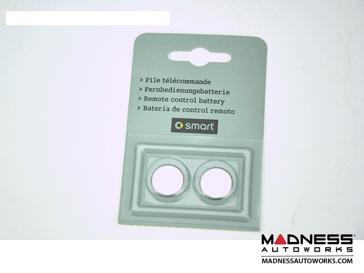 smart fortwo Key Fob Replacement Batteries (2) - 451 model - Genuine smart