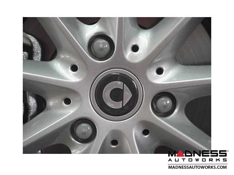 smart fortwo Wheel Bolt Covers - Silver / Grey 15mm (12)