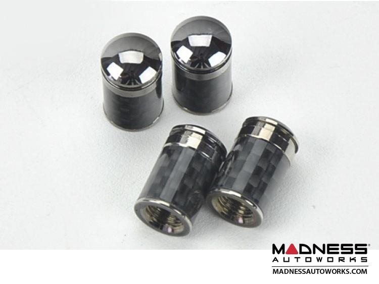 Valve Caps (4) - V1 - Carbon Fiber - Polished Tip