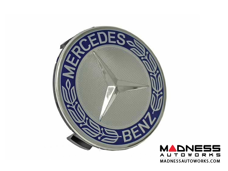 Mercedes Benz Center Wheel Cap - Blue - Large (1)
