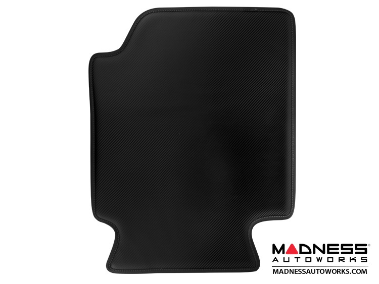 smart fortwo Floor Mats - 451 model - Leather - Carbon Fiber Finish w/ Black Binding