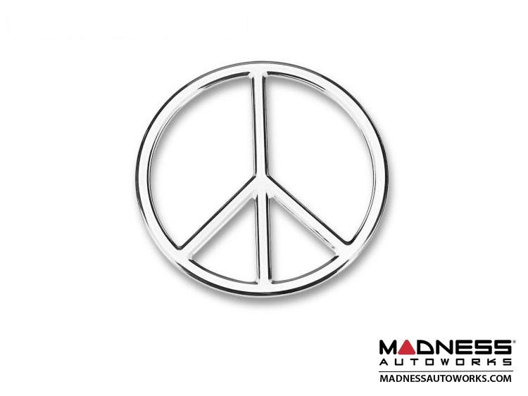 Badge - Peace (Chrome) 3D